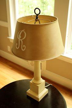 hand-painted lamp shade