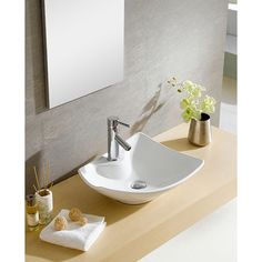 Somette Fine Fixtures White Vitreous China Irregular Vessel Sink - Overstock™ Shopping - Great Deals on Somette Bathroom Sinks