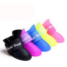 High-quality Cute Candy Color Dog Rain Boots Soft Silicone Waterproof Skidproof Pet Rain Protective Shoes - NewChic Mobile