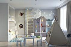 Детская комната в скандинавском стиле. Детская
