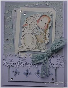 my creative world White Snowflake, Snowflakes, Martha Stewart Crafts, Craft Punches, Magnolia Stamps, Small Cards, Marianne Design, Winter Cards, Hello Everyone