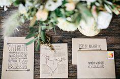 indie wedding invitation