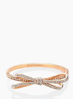 Rose gold bow bangle