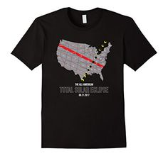 Mens Totality Path of American Total Solar Eclipse Shirt 2017 Tee XL Black >>> Want additional info? Click on the image-affiliate link. #SolarEclipseGlasses