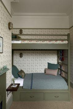 Home Interior, Interior Design, Recessed Shelves, L Wallpaper, Tiny Loft, Built In Bunks, Loft Spaces, Tiny Spaces, Victorian Homes