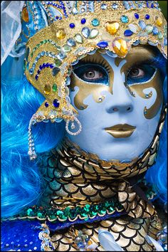 turquoise, gold, green masquerade Mardi Gras - Venetian look By Bert Meijers