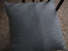 cashmere sweater upcycle into pillow!