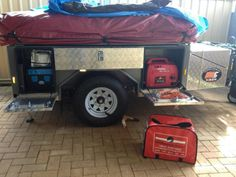 Off-Road Camping Trailer Box Off Road Camper Trailer, Box Trailer, Trailer Tent, Camp Trailers, Trailer Plans, Off Road Camping, Camping Gear, Rv Motorhomes, Adventure Trailers