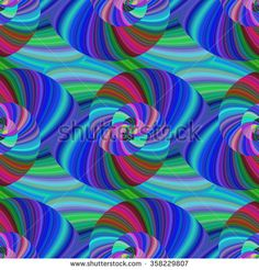 Abstract psychedelic seamless fractal swirl pattern background