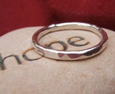 Heavy Hammered Sterling Silver Ring. $24.00, via Etsy.