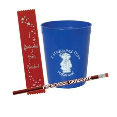 Preschool Graduation Fun Cup Set - Fun awards kids will enjoy receiving on their big day! Preschool Graduation Gifts, Fun Awards, Fun Cup, Cupping Set, Tableware, Kids, Design, Children, Dinnerware