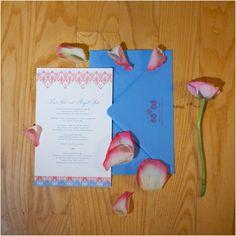 pink and blue wedding invitations - vintage wedding photographers, raleigh nc