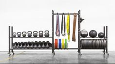 2-tier Mass Storage Sytem Of Fitness Equipment In Gym Photo, Detailed about…