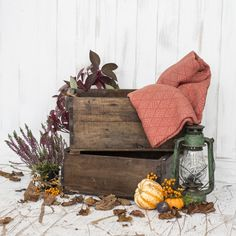 Nothing makes seasonal decorating easier than vintage wooden crates. In fact, decorating in general is easy with vintage crates. They make excellent storage, Vintage Wooden Crates, Vibrant Colors, Colours, Shabby Chic Style, Seasonal Decor, Planter Pots, Seasons, Uk Fashion, Furniture
