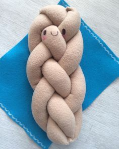 Challah bread and Cover: shabbat plush toy pretend by FreshCrayons
