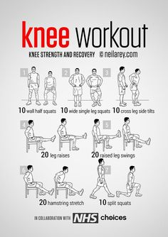 Yoga Fitness Flow - No-equipment knee pain, strength and recovery Workout. - Get Your Sexiest Body Ever! Fitness Workouts, Fitness Tips, Fitness Motivation, Health Fitness, Body Fitness, Cardio Gym, Workout Tips, Workout Routines, Knee Strengthening Exercises
