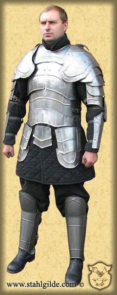 Larp fantasy Elf medieval costume steel armor Weg by Stahlgilde