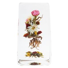 Paul Stankard Glass Botanical Bouquet  United States  1999  A beautiful Paul Stankard glass botanical with a bouquet of chicory, raspberries, tea roses, ants and spirits, signed Paul J, Stankard, C7, 1999