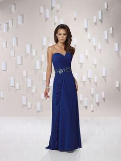 Natural waist sweep/brush train sleeveless chiffon elegant bridesmaid gown. My Girls will look like goddesses!
