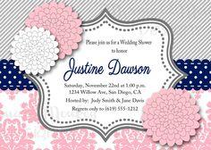 Bridal Shower Invitation  Wedding Shower by MermaidMonkeyDesigns, $12.00