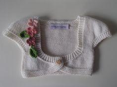 scaldacuore da bebè in merino bianca con fiori tonalità rosa : Moda bebè di mompatchwork