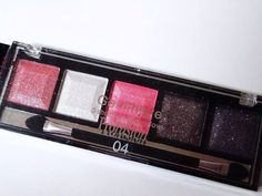 PROFUSION Eyeshadow Palette GEMINEYE Shimmer Pink, Purple, White Silver SMOKEY