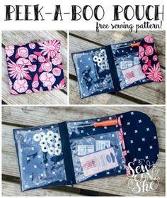 Peek-a-Boo Pouch free sewing pattern