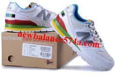 New Balance NB CM996MWT White Green Blue Gray Logo For Women Shoes