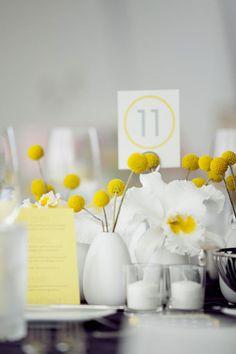 Yellow reception styling