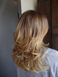 Heavily layered blonde hair - kinda fun!