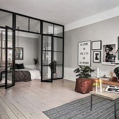 When can I move in? This apartment for sale via @skandiamaklarna is just so cool( @kronfoto styled by @scandinavianhomes )