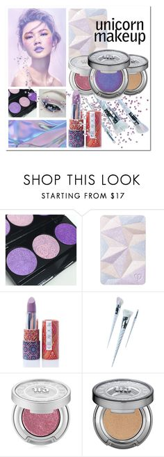 """Magical Makeup: Unicorn Style"" by kimmyellipsis ❤ liked on Polyvore featuring beauty, Clé de Peau Beauté, Moonchild, Unicorn Lashes and Urban Decay"