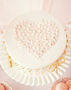 Pink & Gold Valentines Dessert Table     cakes by Sweet Tiers