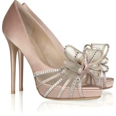 9bf6d45de6f Valentino Crystal Versailles Bow satin sandals by None