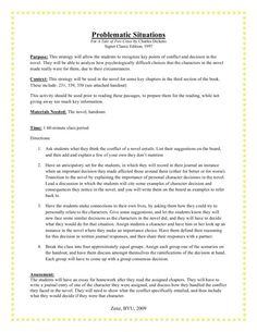 tale of two cities characters tale of two cities by charles  problematic situations for a tale of two cities by charles dickens lesson plan lesson planet