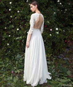 Свадебное платье в бохо стиле (#645). http://domvesta.ru/catalog/svadebnye-platya/