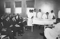 Medical school class A photo of a medical school class from the Howard University archives.
