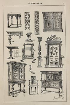 Hey, I found this really awesome Etsy listing at https://www.etsy.com/listing/237958208/england-elizabethan-furniture-designs