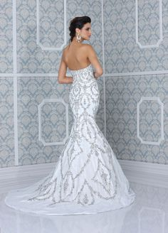 mermaid wedding dresses with bling