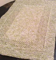 Free Knitting Pattern Tender Foot Bath Mat