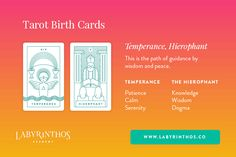 Temperance and the Hierophant - Tarot Birth Card Meaning Revealed
