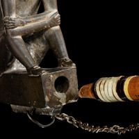 Effigy pipe associated with Thayendanegea (Joseph Brant, Mohawk, ca. 1742–1807)