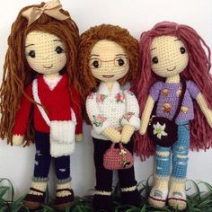 Group of amigurumi dolls. (Inspiration).