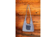 Crossbody bag crossbody purse denim crossbody by SewManyScraps