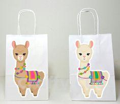Llama Goody Bags, Llama Favor Bags, Llama Gift Bags, Llama Party Bags Goody Bags, Favor Bags, Small Gift Bags, Small Gifts, Llama Birthday, 7th Birthday, Birthday Ideas, Alien Party, Llama Gifts