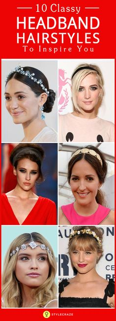 Want to make a major style statement with your 'do? Opt for a headband! Whether you're planning on rocking a bob or wearing your hair up, we have compiled a list of ten headband hairstyles that you'll actually find useful! Bejewelled, floral or leather, these of-the-moment headbands are a stylish addition to jazz up your boring look.