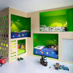 Child's Outer Space 4 cubicle like bunk beds