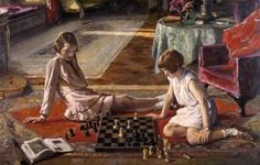 The Chess Players by John Lavery - 1856 - 1941