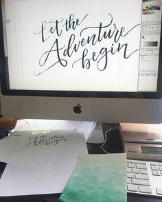 I like being the personal invite-designer for my friends and family. I do not like computers as much. But I'm working on it. #handlettering #handlettered #script #thedailytype #handmadefont #lettering #letteringart #strengthinletters #brushpen #brushscript #brushcalligraphy #handletteringpractice #modernlettering #learnlettering #letteringonsunday #slowroastedco #scriptlettering #letteringco #letter #calligrafriends #brushstrokes #50words #digitizelettering #adventure