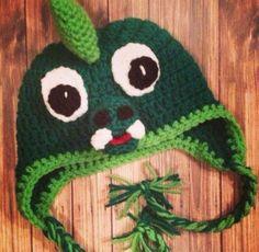 Crochet Dinosaur toddler hat by crochetmomma2011 on Etsy https://www.etsy.com/listing/233879140/crochet-dinosaur-toddler-hat